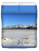 Turnagain Arm And Chugach Range From Hope Alaska Duvet Cover