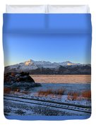 Turnagain Arm And Kenai Mountains Alaska Duvet Cover