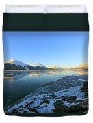 Turnagain Arm In Winter Alaska Duvet Cover