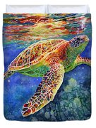 Turtle Reflections Duvet Cover by Hailey E Herrera