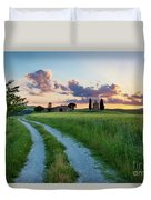 Tuscan Sunset Duvet Cover