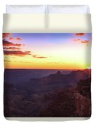 Twilight In The Canyon Duvet Cover