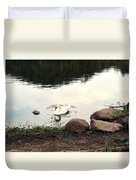 Twilight Swan Duvet Cover