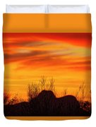 Twin Peaks Silhouette H1840 Duvet Cover by Mark Myhaver
