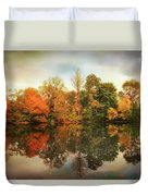 Twin Pond Reflections Duvet Cover
