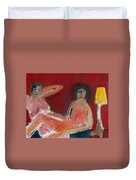 Two Nudes By A Lamp Duvet Cover