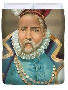 Tycho Brahe Illustration Duvet Cover