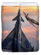 Typhoon And Spitfire Synchro-pair Display Team Duvet Cover