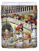 Umbrellas In The Rain - Digital Remastered Edition Duvet Cover