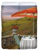 Un Caffe' Nelle Vigne Duvet Cover