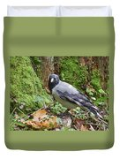 Under The Oak Tree. Hooded Crow Duvet Cover