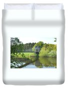 Union Chain Bridge At Horncliffe On River Tweed Duvet Cover