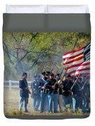 Union Infantry Advance Duvet Cover