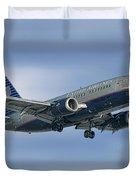 United Airlines Boeing 737-522 Duvet Cover