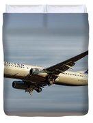United Airlines Boeing 737-824 Duvet Cover