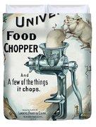 Universal Food Chopper No. 2  1899 Duvet Cover