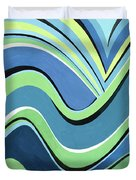 Untitled  Abstract Blue And Green Duvet Cover
