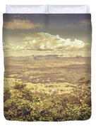Up Above The Land Down Under Duvet Cover