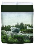 Upon This Rock Duvet Cover