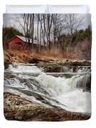 Upper Cox Brook Fall Covered Bridge Duvet Cover