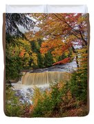 Upper Tahquamenon Autumn Colors -0007 Duvet Cover