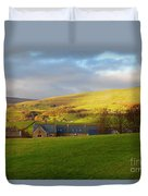 Upper Wensleydale And Lovely Seat From Hawes In Yorkshire Dales Duvet Cover
