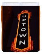 Uptown Signage 5 Duvet Cover