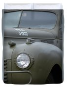 Us Army Staff Car World War II Duvet Cover