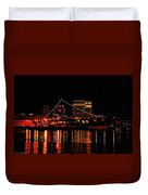 Uss Midway At Night Duvet Cover