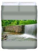 Valley Creek Waterfall Panorama Duvet Cover
