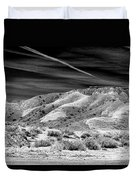 Valley Of Fire Black White Nevada  Duvet Cover