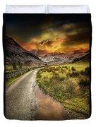 Valley Sunset Snowdonia Duvet Cover