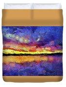 Van Gogh Sunset Reflection Duvet Cover