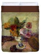 Vase Of Flowers 1886 Duvet Cover