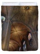 Vaults Of Notre Dame De Paris Before The Fire Of 2019 Duvet Cover