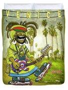 Venice Beach Rasta Roller Duvet Cover