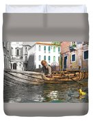 Venice Pause In The Evening Duvet Cover