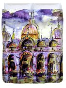 Venice Piazza San Marco Duvet Cover