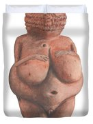 Venus Of Willendorf Duvet Cover