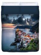 Vernazza Cityscape Duvet Cover