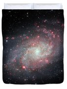 Very Detailed View Of The Triangulum Galaxy Duvet Cover