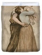 Victor Emile Prouve  French  1858   1943 The Kiss  Le Baiser  1898  Collotype On Wove Paper Duvet Cover