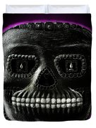 Watchman, Sugarskull Of Passing Time Duvet Cover