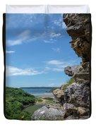 View From Pennard Castle Portrait Duvet Cover