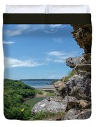 View From Pennard Castle Square Duvet Cover