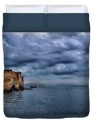 View Of Castel Dell Ovo  Duvet Cover