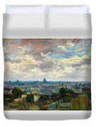 View Of Paris - Digital Remastered Edition Duvet Cover