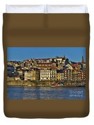 View Of Porto And Douro River Duvet Cover
