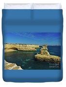 View Of Praia Deserta In Algarve Duvet Cover
