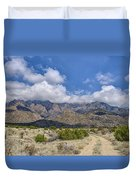 View Of Sandia Mountain Duvet Cover